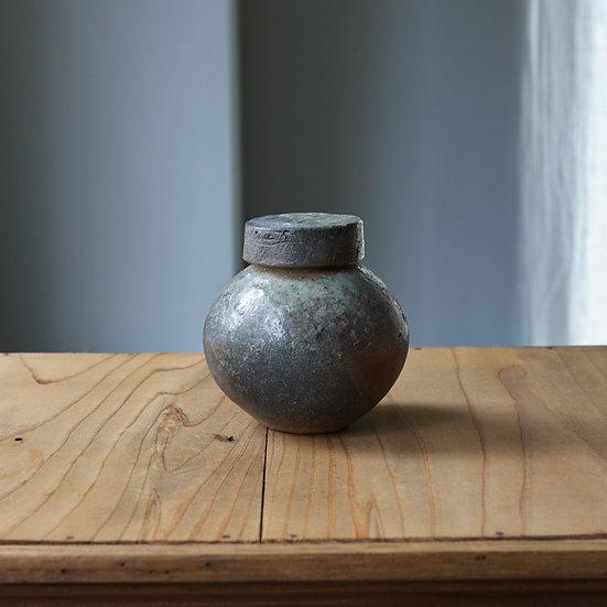 土器蓋付丸壺 タナカシゲオ