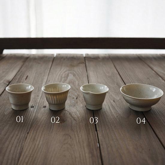 竹下努 青白磁茶盃 | Bluish white porcelain octagon teacup Tsutomu Takeshita