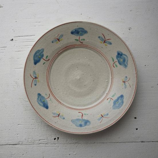 Red-figure porcelain plate | 沼田智也 赤絵6寸皿