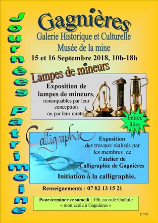 Journées du patrimoine 15 et 16 septembre