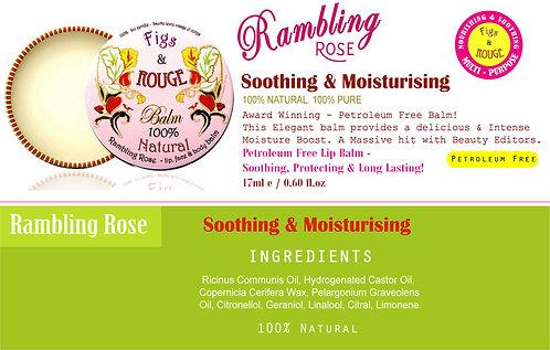 Figs & Rouge Rambling Rose Lip Balm 17ml