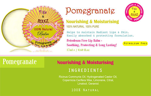 Figs & Rouge Pomegranate Lip Balm 17ml