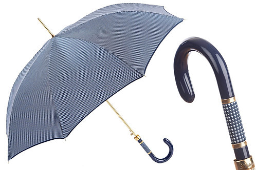 PIED DE POULE NAVY UMBRELLA