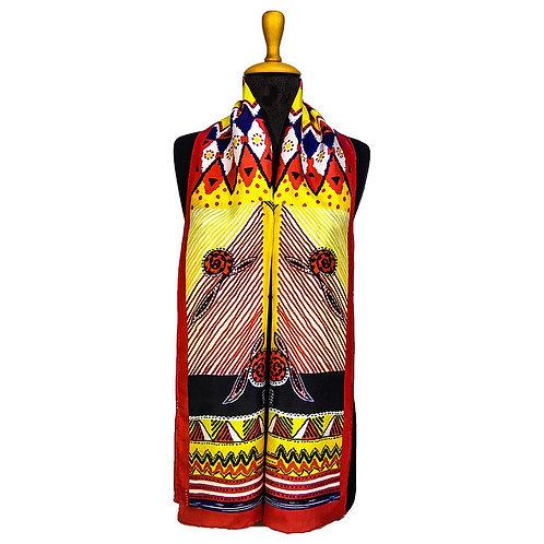ETHNIC  Handmade 100% silk scarf