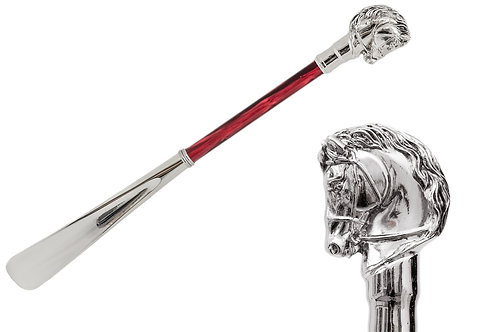 Silver Horse Shoehorn, Red Shaft