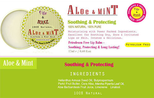 Figs & Rouge Aloe & Mint Lip Balm 17ml