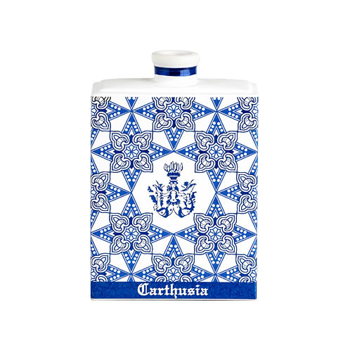 Ceramic Collection Bottle in Blue with 500ml Via Camerelle Home Refill