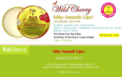 Figs & Rouge Wild Cherry Lip Balm 17ml