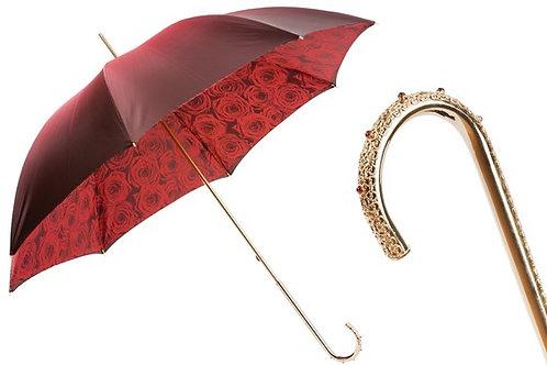 Red Roses Umbrella, Double Cloth