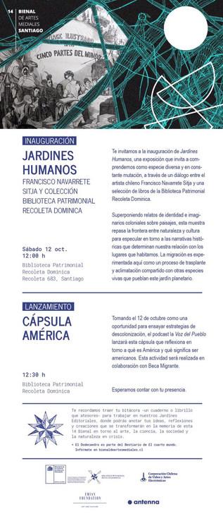 invitación escucha colectiva Capsula América