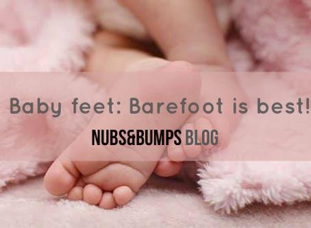 Baby feet development