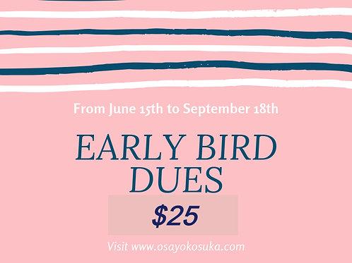 Early Bird Annual OSAY Membership