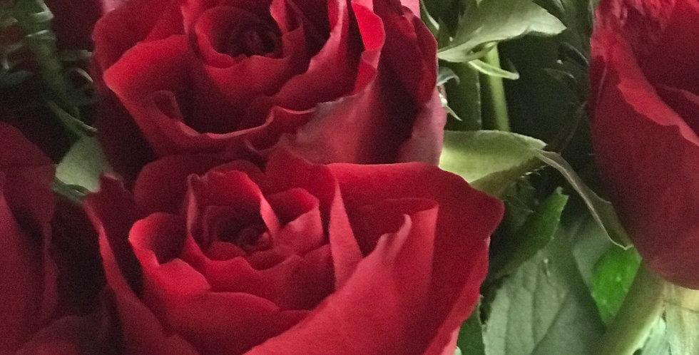 9 Long Stems of Rose's