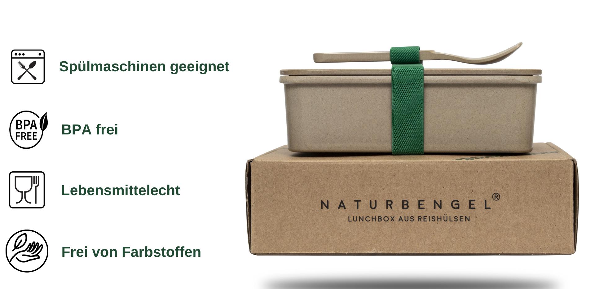Die Lunchbox kann in der Spülmaschine gereinigt werden, ist BPA und Farbstofffrei