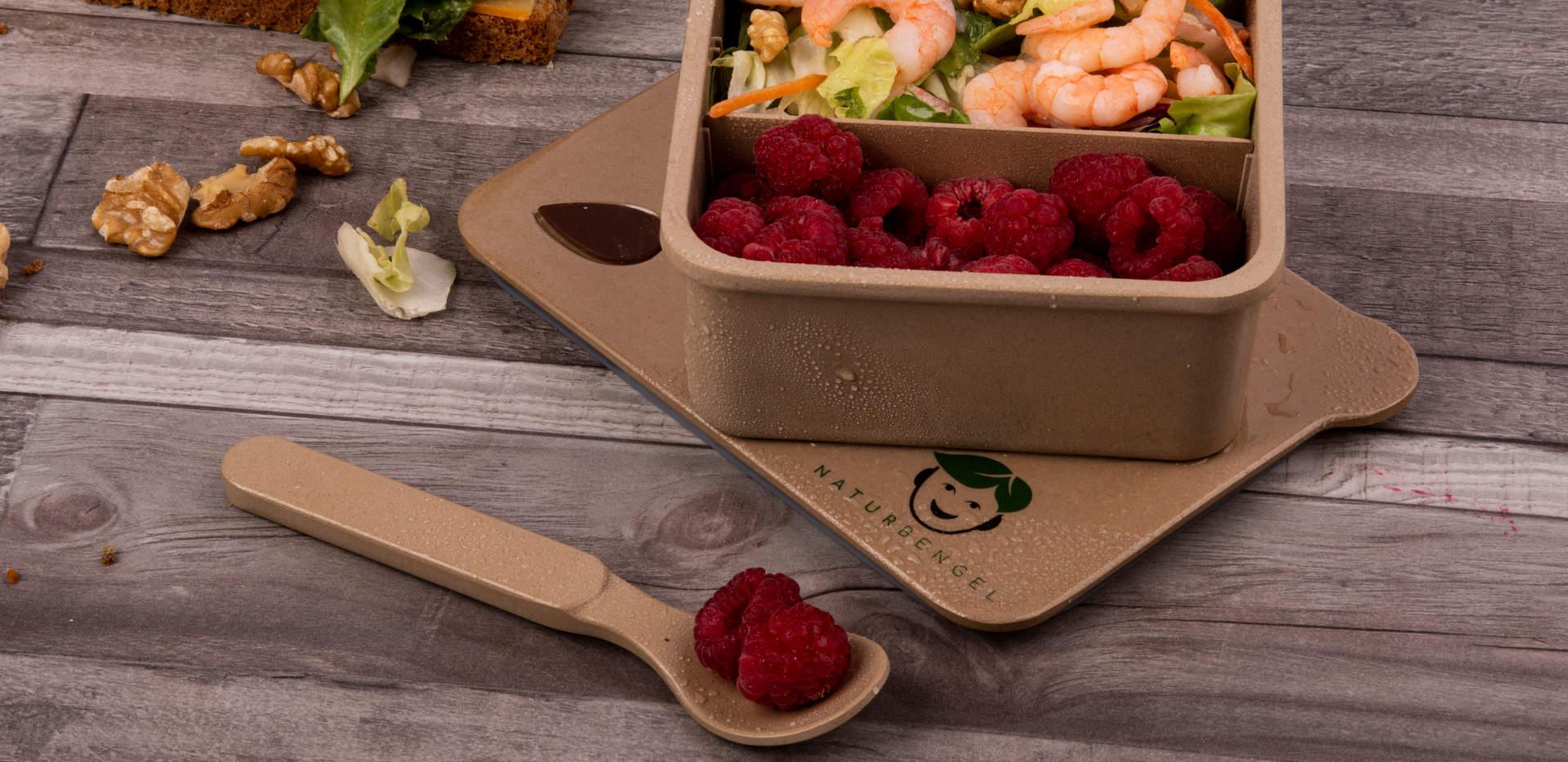 Die Naturbengel Lunchbox aus Reishülsen. jetzt erhältlich bei Amazon und Etsy!