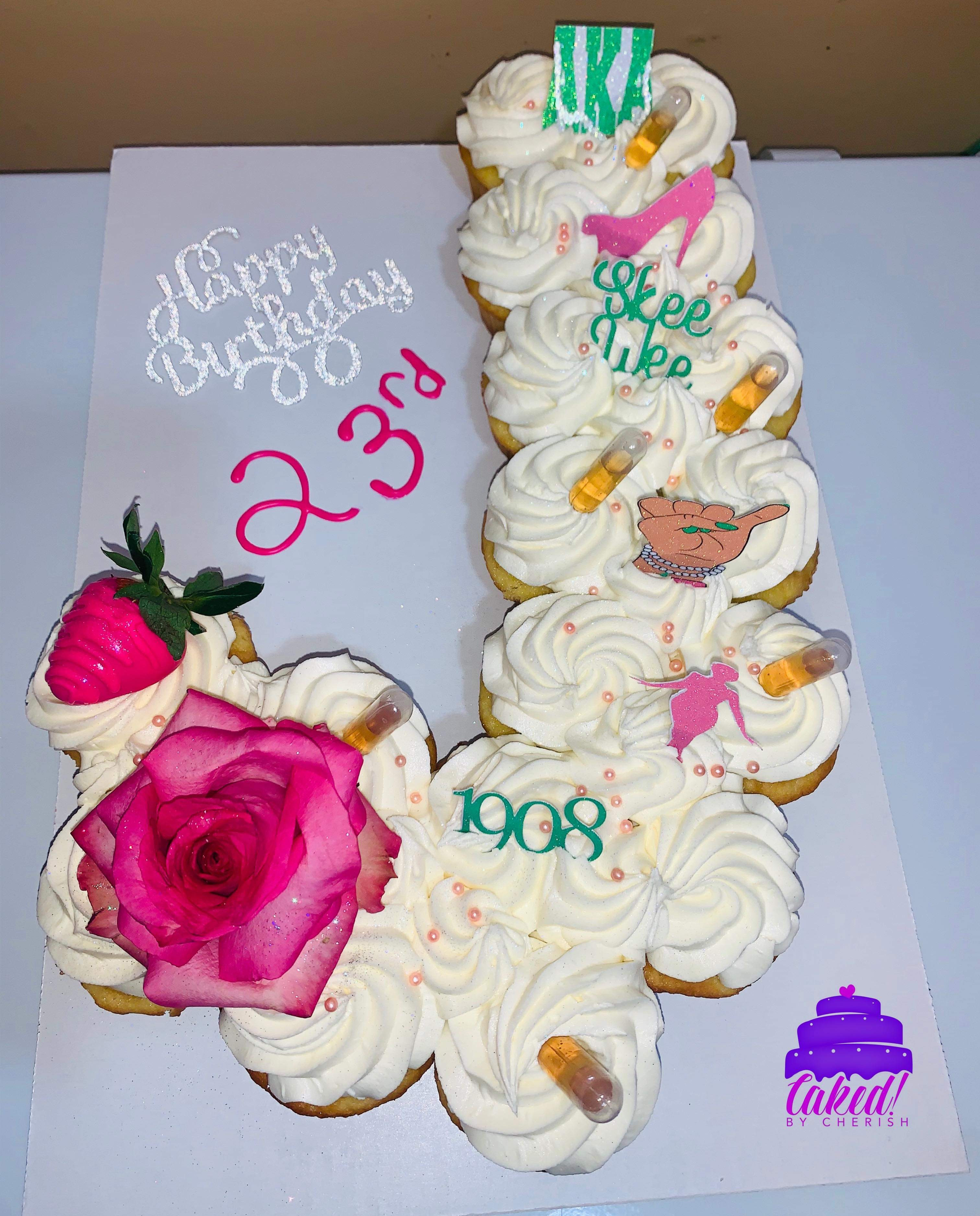 Letter cupcakes