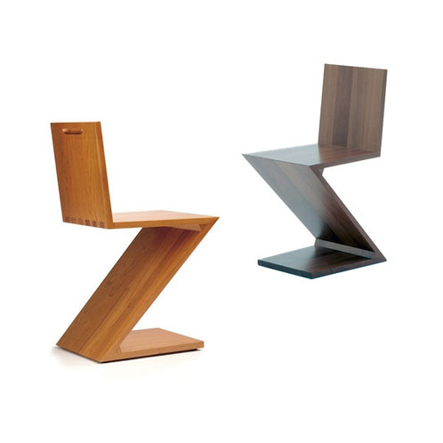Zig Zag Chair Oak And Walnut Reproduction M Edition