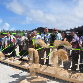 Warmly celebrate the groundbreaking ceremony of the Port Center of Tinian