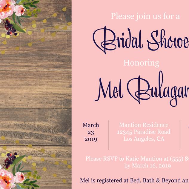 Bridal Shower Blush Floral