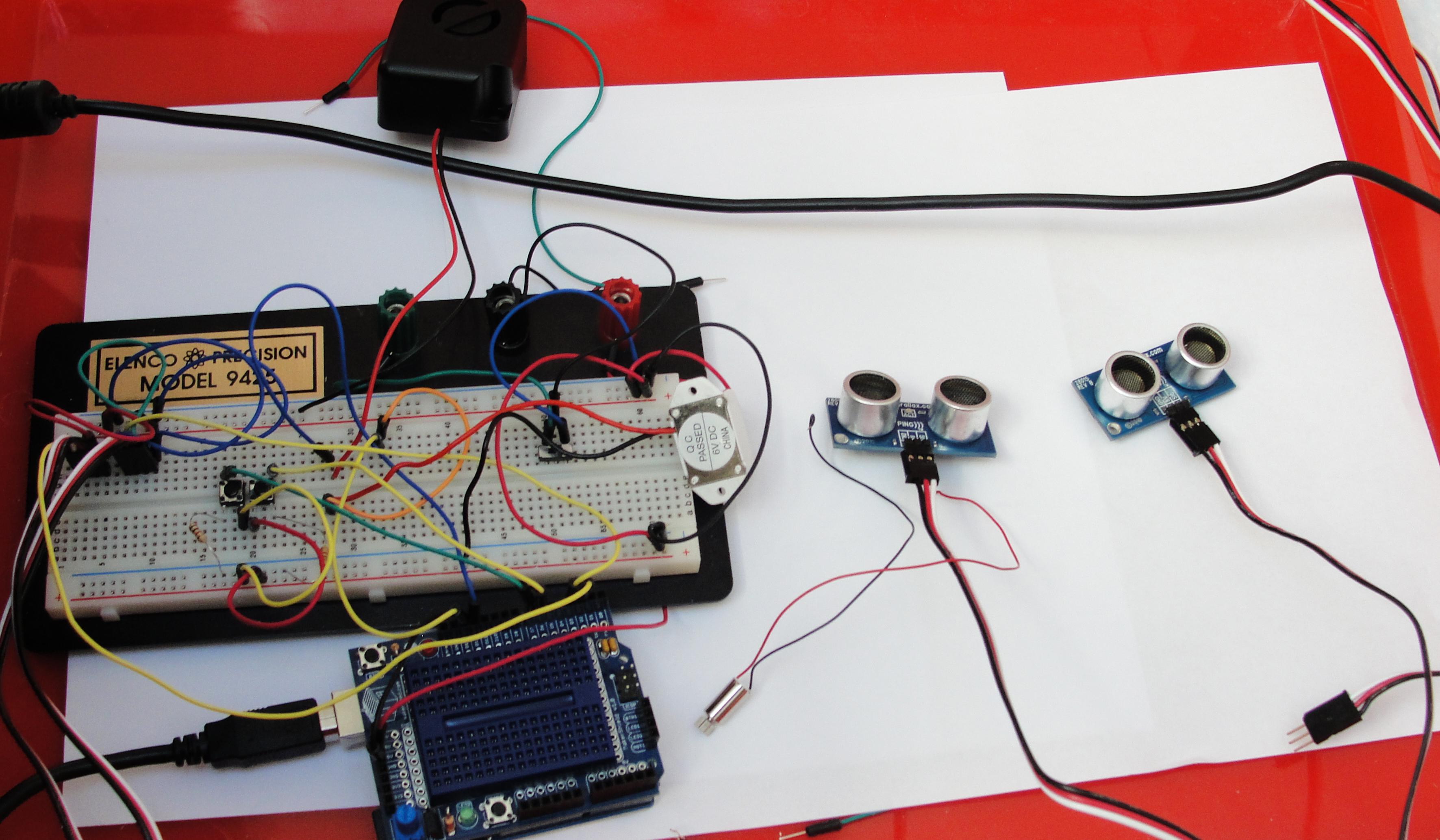 Sensors, breadboard, Arduino