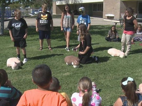 SIXTH GRADER SAVES LIFE WITH CPR