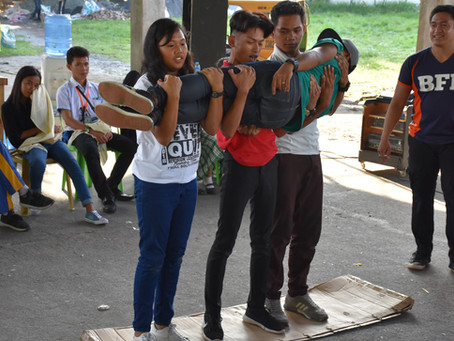 BFP-Polomolok, SK collaborate to train youth on basic first aid