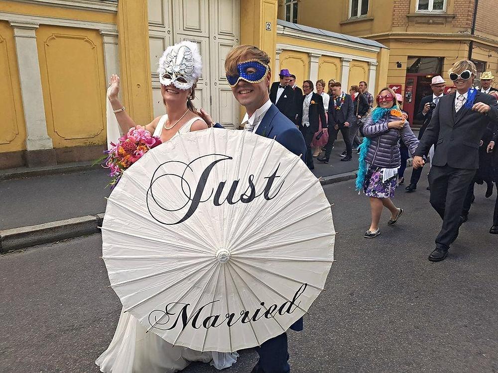 Bryllup Bryllupsparade Wedding Romsås Janitsjar Karl Johan Oslo Slottet