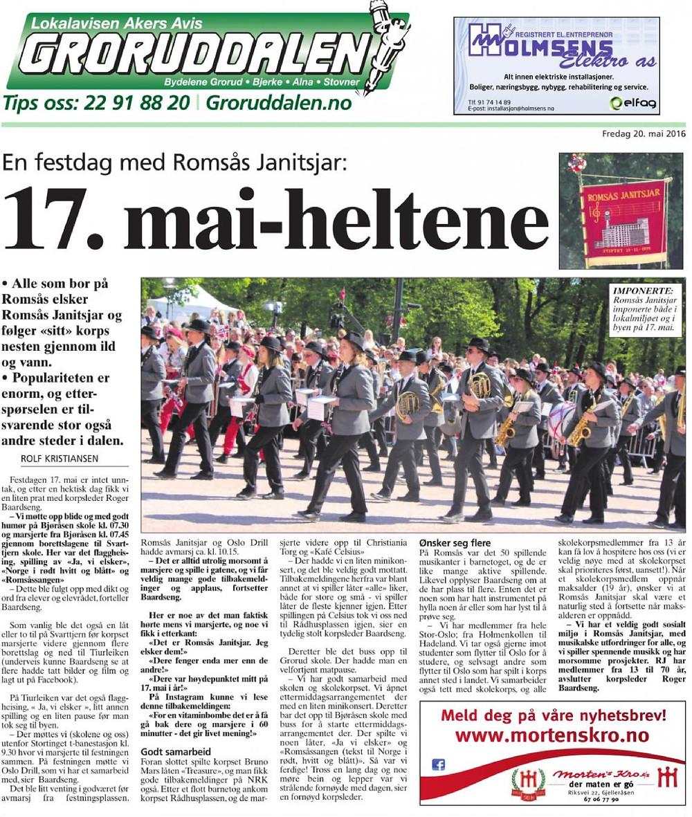 Romsås Janitsjar Akers Avis Groruddalen 17. mai