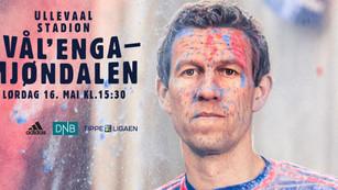 16. mai spiller vi på Ullevaal stadion!