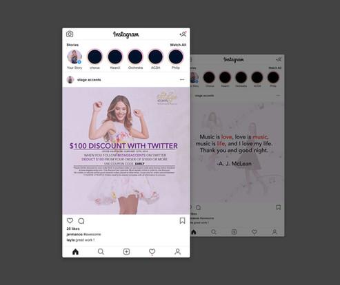 Stage Accents Instagram Posts