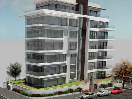 הושלם - בנין בוטיק בן שבע קומות ומרתף חניה בתל אביב