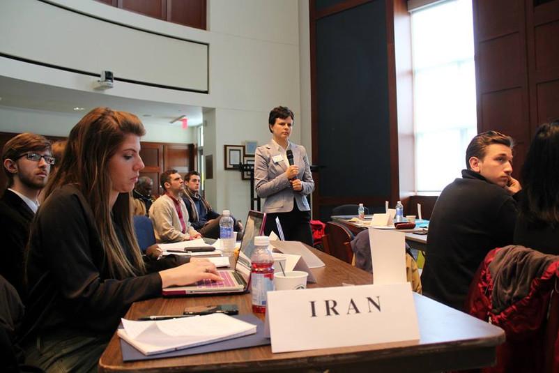Representing  Ukraine at UN model at St Rose College