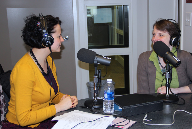 Interviewing a local actor in Albany, St Rose College radio