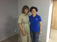 With Memeber of European Parliament,  Rebecca Harms, in Pokrovsk, Donetsk region