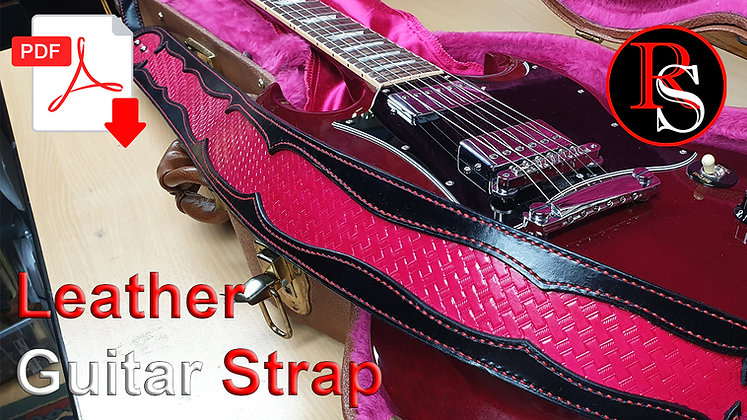 Leather Guitar Strap .pdf Pattern & Tutorial Video