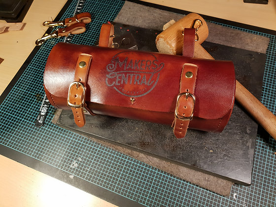 Round Leather Tool Box / Bicycle Saddle Bag