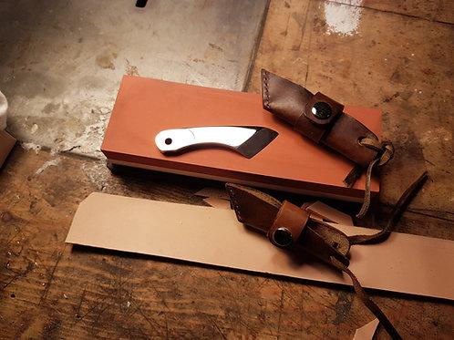 Pocket Kiridashi With Leather Sheath