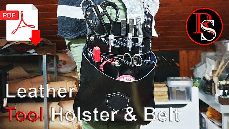 Leather Tool Holster & Belt .pdf Pattern & Tutorial Video