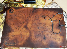 Leather Pirate Map