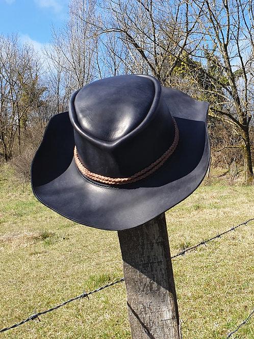 Leather Cowboy Hat Size L