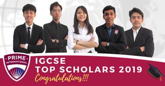 IGCSE TOP SCHOLARS 2019