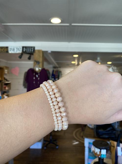 Neutral Beaded Bracelets (Set of 3)