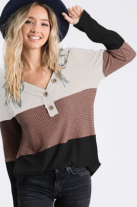 Neutral Block Sweater