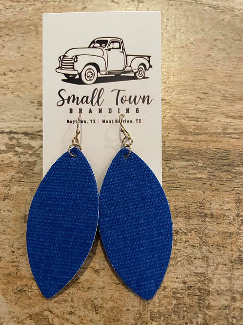 Blue Felt Earrings