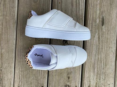 White/Cheetah Sneaker