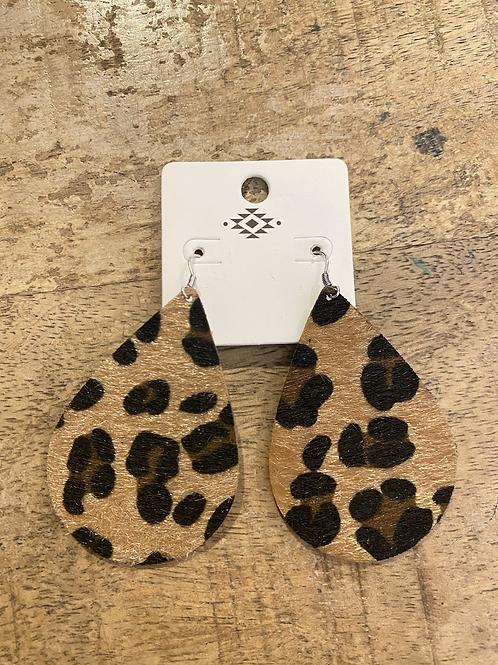 Leopard Teardrop Earrings