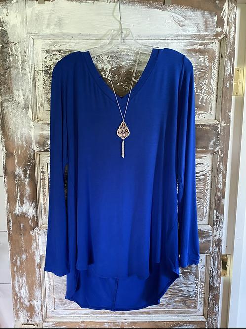 Royal Blue Solid Longsleeve