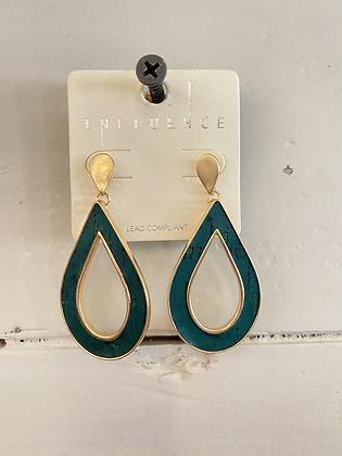 Green Dainty Drop Earring