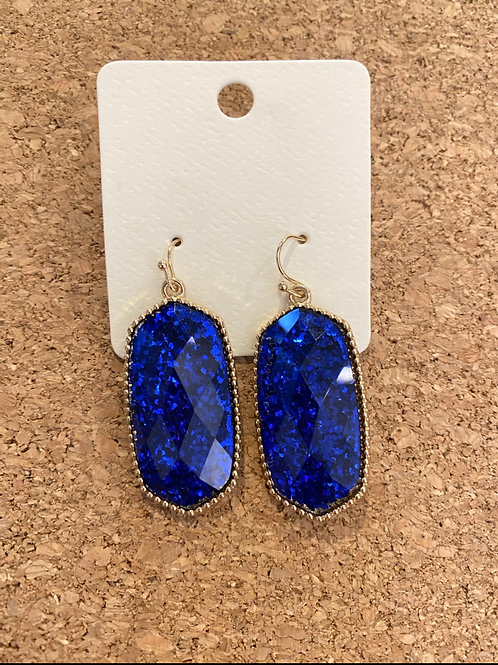 Glitter Blue Earrings