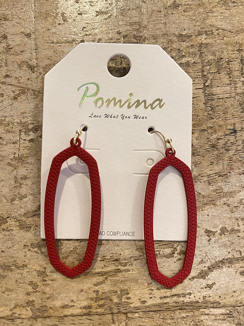 Solid Red Danglies